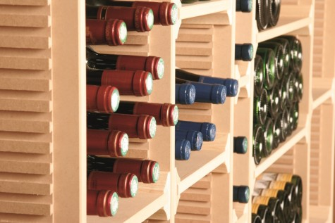 Wintower houten wijnrek natuurkleur