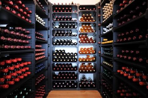 Wintower houten wijnrek zwart