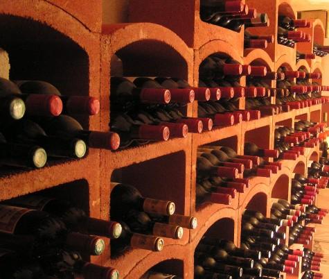 Bloc Cellier in de wijnkelder van een restaurant