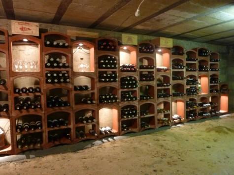 Caviroc wijnrek in natuursteen