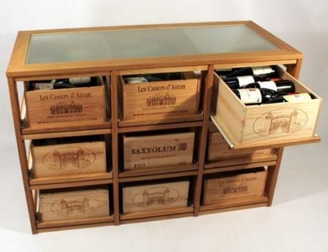 Casier d'antan_Cave à vin_Bloc 9 range-caisses