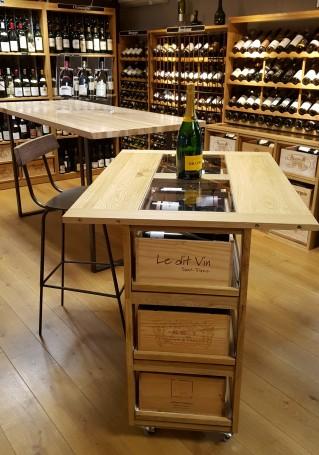 Casier d'antan_Cave à vin_Table range-caisses