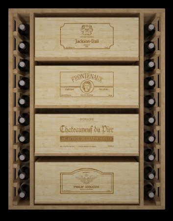 VinoWood 105 - 20 flessen/bouteilles en 4 kisten/caisses
