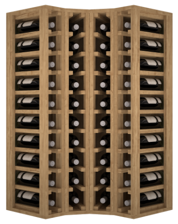 VinoWood - 40 flessen/bouteilles - Hoek/angle int.