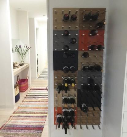 STACT wijnrek rangement bouteilles Gray Oak
