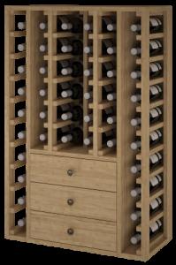 VinoWood 105 - 46 flessen/bouteilles - 3 trays