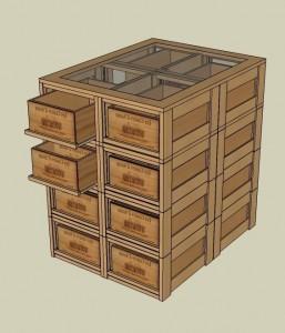 Casier d'antan_Cave à vin_Bloc 16 range-caisses