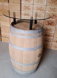 Casier d'antan_Cave à vin_Tonneau-Rehausse+verre